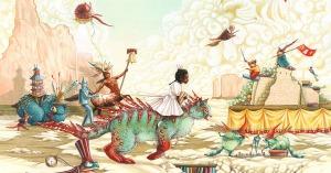 Affiche des Imaginales 2016 par Hélène Larbaigt